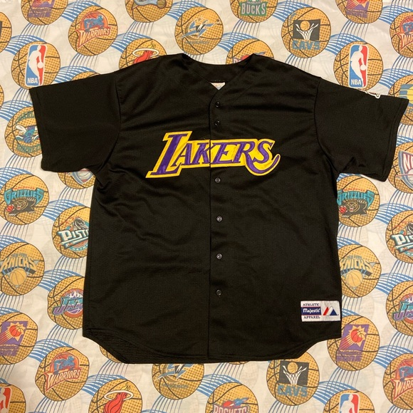 Vtg 2002 NBA Finals Lakers Kobe Baseball Jersey